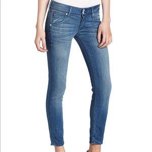 Hudson skinny crop flap jeans 26 like new!